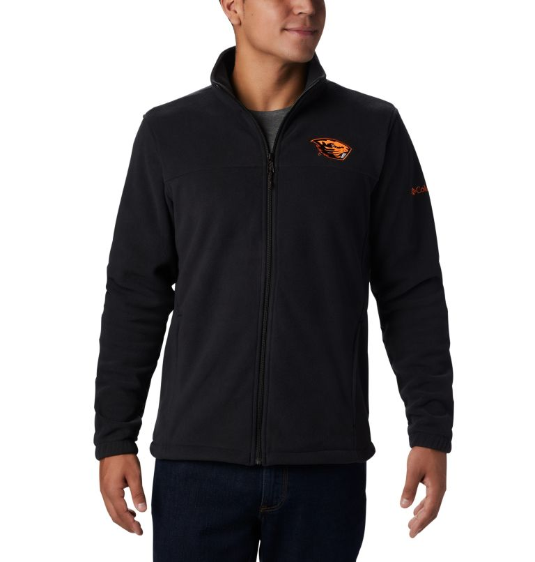 CLG Flanker™ III Fleece Jacket | 976 | M Men's Collegiate Flanker™ III Fleece Jacket - Oregon State, OSU - Black, front