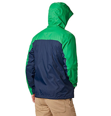 Men's Collegiate Glennaker Storm™ Jacket - Notre Dame CLG Men's Glennaker Storm™ Jacket | 345 | L, ND - Fuse Green, Collegiate Navy, back