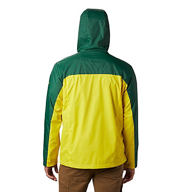 Men's Collegiate Glennaker Storm™ Jacket - Oregon CLG Men's Glennaker Storm™ Jac | 346 | L, UO - Forest, Yellow Glo, back