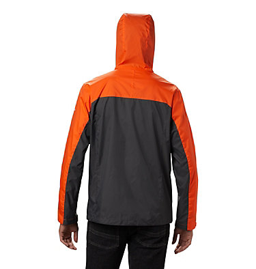 Men's Collegiate Glennaker Storm™ Jacket - Clemson CLG Men's Glennaker Storm™ Jacket | 833 | M, CLE - Spark Orange, Dark Grey, back