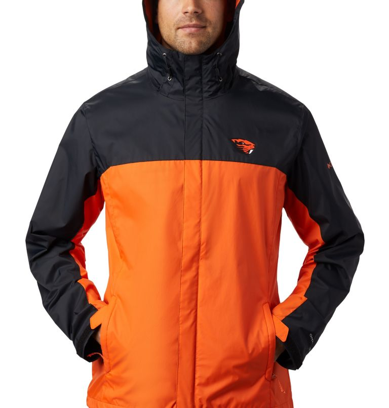 CLG Men's Glennaker Storm™ Jacket | 975 | XXL Men's Collegiate Glennaker Storm™ Jacket - Oregon State, OSU - Black, Tangy Orange, a1