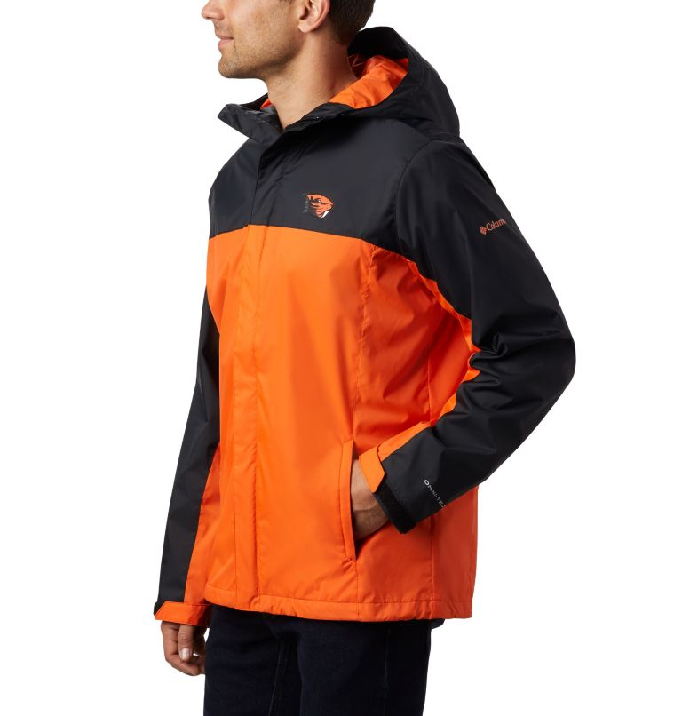 CLG Men's Glennaker Storm™ Jacket | 975 | XXL Men's Collegiate Glennaker Storm™ Jacket - Oregon State, OSU - Black, Tangy Orange, a2