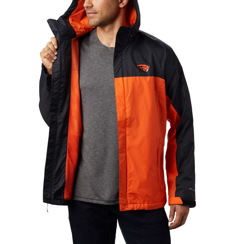 CLG Men's Glennaker Storm™ Jacket | 975 | XXL Men's Collegiate Glennaker Storm™ Jacket - Oregon State, OSU - Black, Tangy Orange, a4