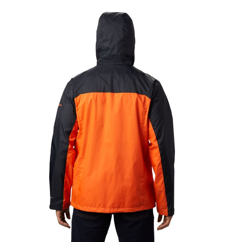 CLG Men's Glennaker Storm™ Jacket | 975 | XXL Men's Collegiate Glennaker Storm™ Jacket - Oregon State, OSU - Black, Tangy Orange, back