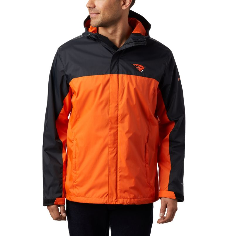 CLG Men's Glennaker Storm™ Jacket | 975 | XXL Men's Collegiate Glennaker Storm™ Jacket - Oregon State, OSU - Black, Tangy Orange, front