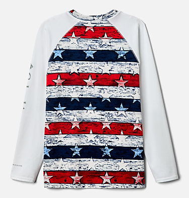 Kids' Vista Brook™ Printed Long Sleeve Shirt U Vista Brook™ Printed Long Sleeve   100   L, White Americana Stripe, back