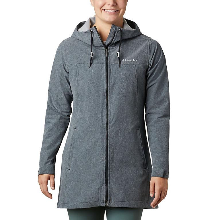Black Heather Women's Miller Peak™ Long Softshell Jacket, View 0