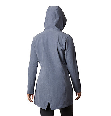 Women's Miller Peak™ Long Softshell Jacket W Miller Peak™ Long Softshell Jacket | 466 | S, Nocturnal Heather, back