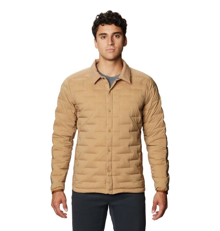 Super/DS™ Climb Shacket | 254 | M Men's Super/DS™ Stretchdown Climb Shacket, Sandstorm, front