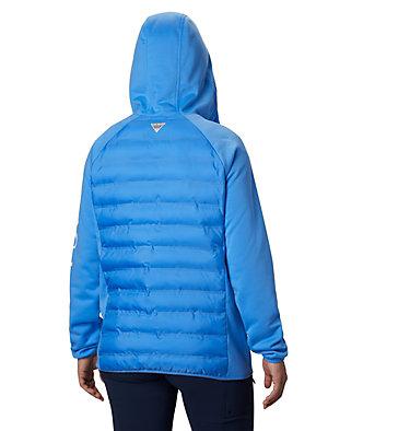 Women's Tidal™ Hybrid Hoodie Tidal™ Hybrid Hoodie | 485 | XS, Harbor Blue, White Logo, back