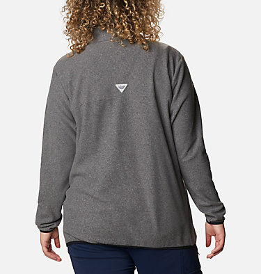 Women's Harborside™ II Fleece Pullover - Plus Size W Harborside™ II Fleece PO | 356 | 2X, Black Heather, back
