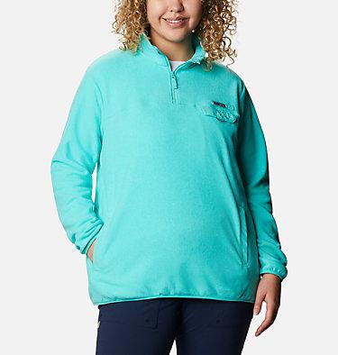 Women's Harborside™ II Fleece Pullover - Plus Size W Harborside™ II Fleece PO | 356 | 2X, Dolphin Heather, front