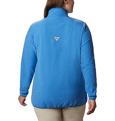 Women's Harborside™ II Fleece Pullover - Plus Size W Harborside™ II Fleece PO | 426 | 2X, Stormy Blue Heather, back