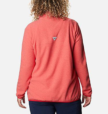 Women's Harborside™ II Fleece Pullover - Plus Size W Harborside™ II Fleece PO | 356 | 2X, Red Lily Heather, back
