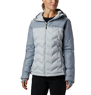 Women's Grand Trek™ Down Hooded Jacket Grand Trek™ Down Jacket | 619 | XL, Cirrus Grey, Tradewinds Grey, front