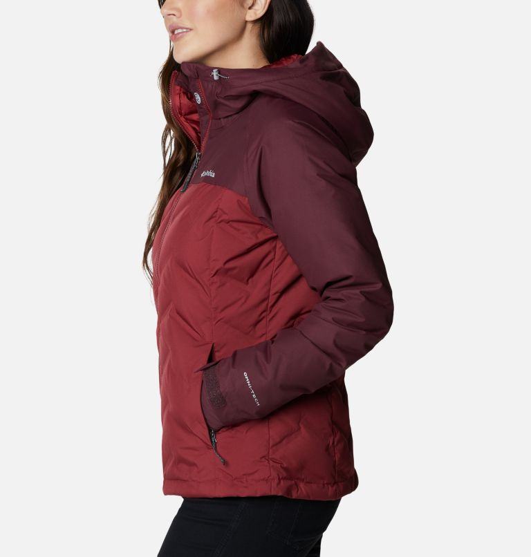 Grand Trek™ Down Jacket | 619 | L Women's Grand Trek™ Down Hooded Jacket, Marsala Red, Malbec, a1