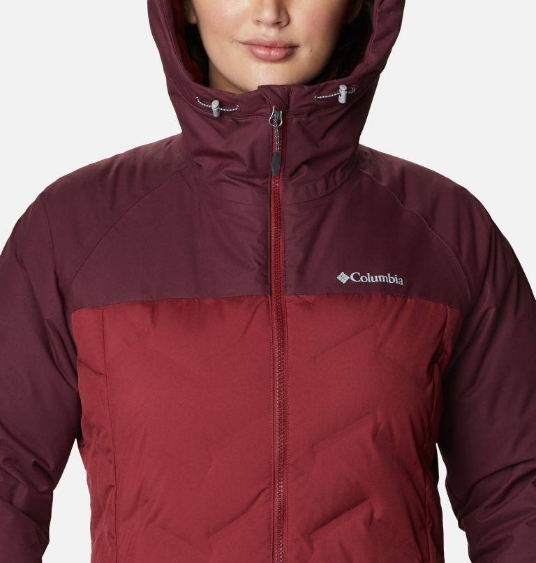Grand Trek™ Down Jacket | 619 | L Women's Grand Trek™ Down Hooded Jacket, Marsala Red, Malbec, a2