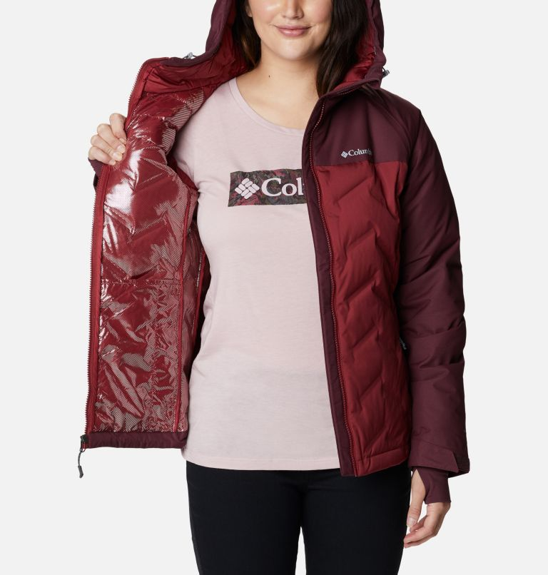 Grand Trek™ Down Jacket | 619 | L Women's Grand Trek™ Down Hooded Jacket, Marsala Red, Malbec, a3