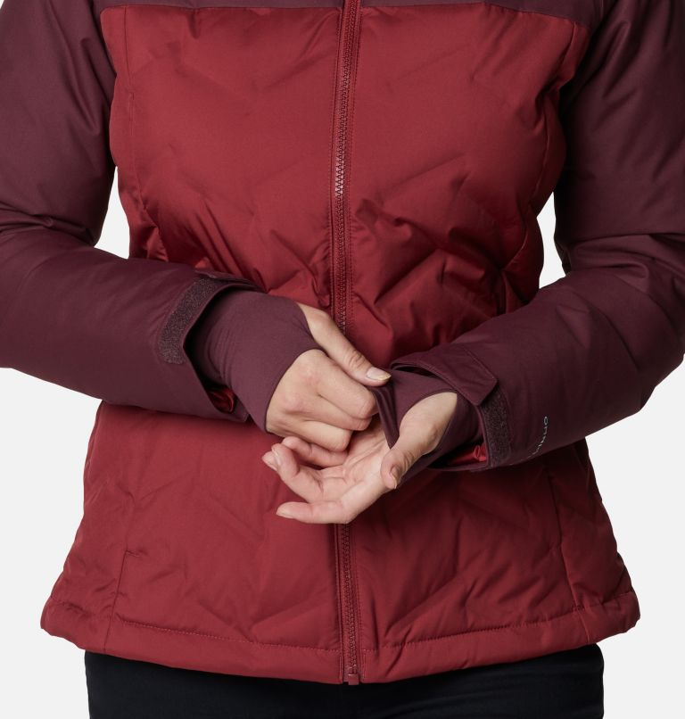 Grand Trek™ Down Jacket | 619 | L Women's Grand Trek™ Down Hooded Jacket, Marsala Red, Malbec, a4