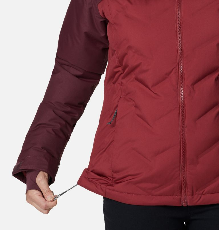 Grand Trek™ Down Jacket | 619 | L Women's Grand Trek™ Down Hooded Jacket, Marsala Red, Malbec, a5