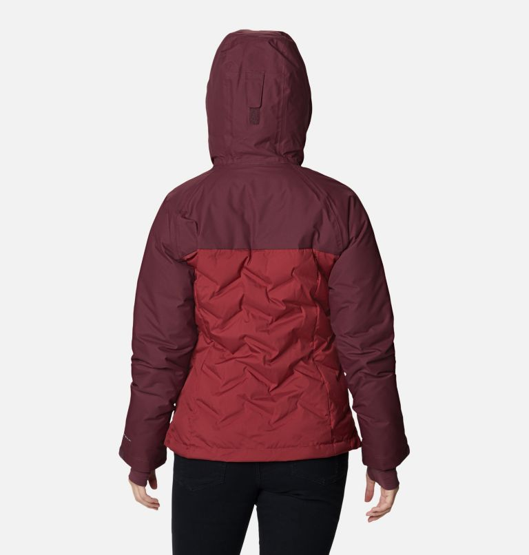 Grand Trek™ Down Jacket | 619 | L Women's Grand Trek™ Down Hooded Jacket, Marsala Red, Malbec, back