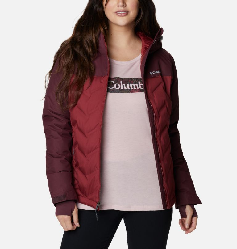 Grand Trek™ Down Jacket | 619 | L Women's Grand Trek™ Down Hooded Jacket, Marsala Red, Malbec, front
