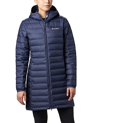 Women's Lake 22™ Down Long Hooded Jacket Lake 22™ Down Long Hooded Jack | 375 | M, Nocturnal, front