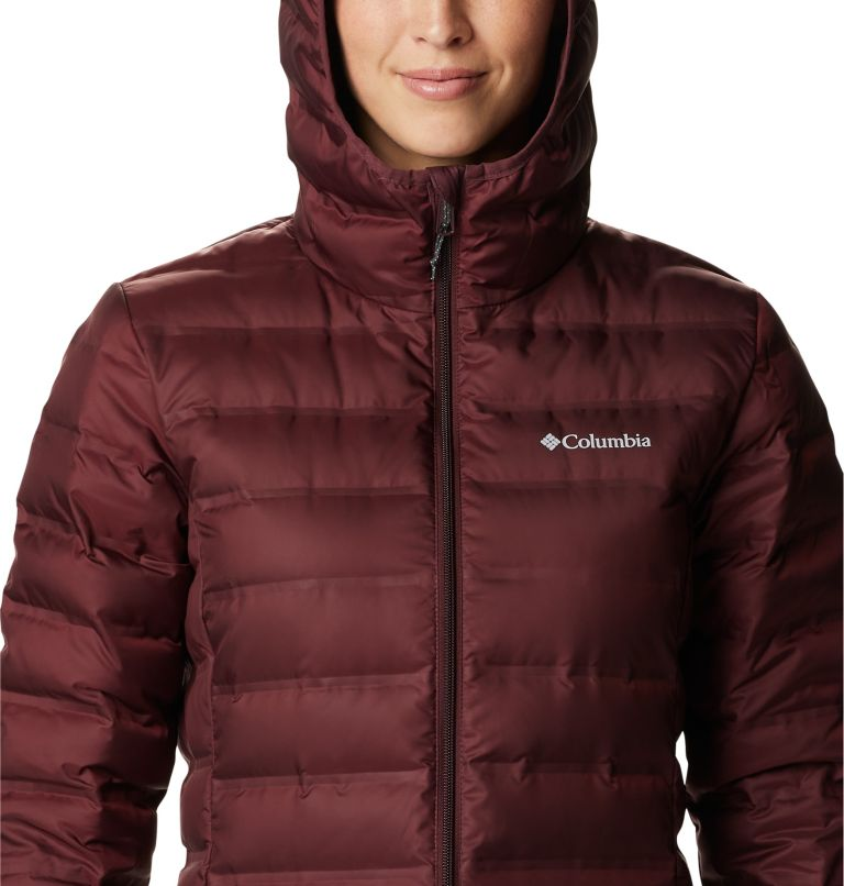 Lake 22™ Down Long Hooded Jacket | 671 | XS Women's Lake 22™ Down Long Hooded Jacket, Malbec, a2
