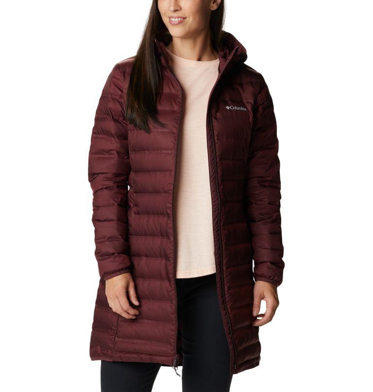 Lake 22™ Down Long Hooded Jacket | 671 | XS Women's Lake 22™ Down Long Hooded Jacket, Malbec, a4