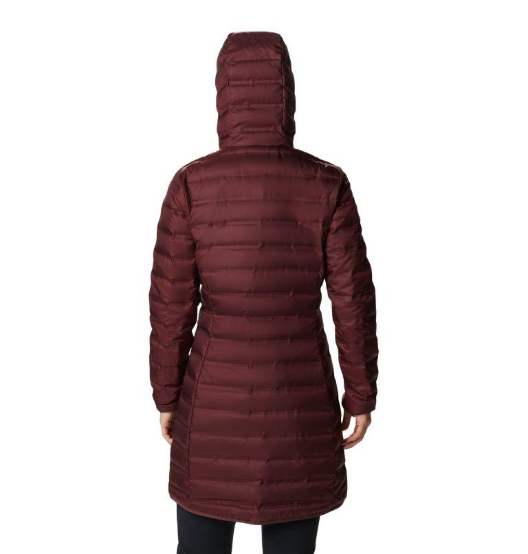 Lake 22™ Down Long Hooded Jacket | 671 | XS Women's Lake 22™ Down Long Hooded Jacket, Malbec, back