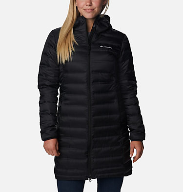 Lake 22 Long Daunenjacke mit Kapuze für Damen Lake 22™ Down Long Hooded Jack | 466 | L, Black, front