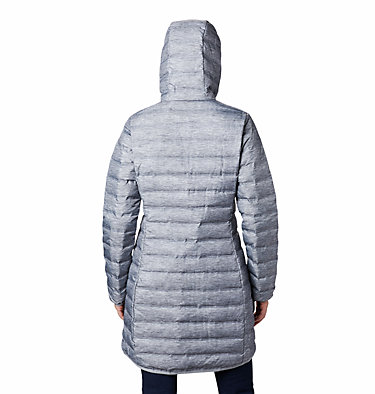 Lake 22 Long Daunenjacke mit Kapuze für Damen Lake 22™ Down Long Hooded Jack | 466 | L, Tradewinds Grey Heather, back