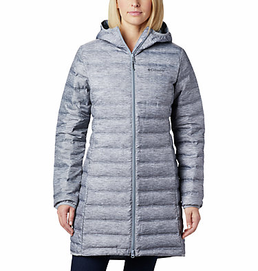 Lake 22 Long Daunenjacke mit Kapuze für Damen Lake 22™ Down Long Hooded Jack | 466 | L, Tradewinds Grey Heather, front