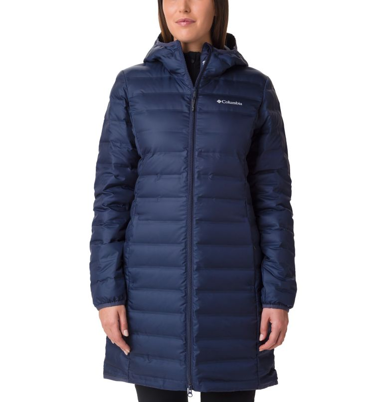 Lake 22™ Down Long Hooded Jack | 466 | L Women's Lake 22 Down Long Hooded Jacket, Nocturnal, front