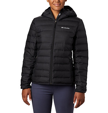 Women's Lake 22™ Down Hooded Jacket Lake 22™ Down Hooded Jacket | 671 | L, Black, front