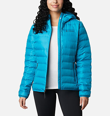 Women's Lake 22™ Down Hooded Jacket Lake 22™ Down Hooded Jacket | 671 | L, Fjord Blue, front