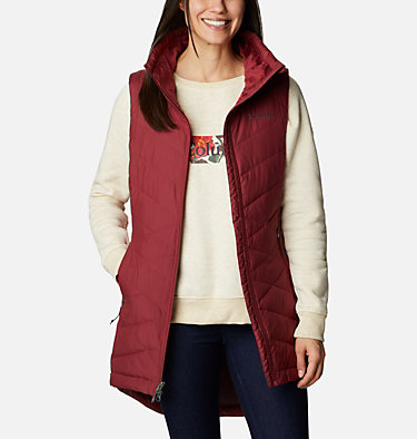 Women's Heavenly™ Long Vest Heavenly™ Long Vest | 619 | S, Marsala Red, front