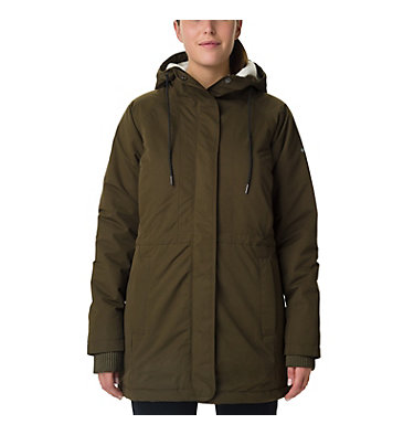 Women's South Canyon Sherpa Lined Jacket South Canyon™ Sherpa Lined Jac | 224 | L, Olive Green, front