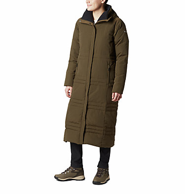 Ruby Falls Long Daunenjacke für Damen Ruby Falls™ Down Long Jacket | 472 | S, Olive Green, front