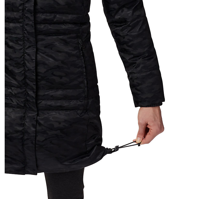 Black Jacquard Women's Ruby Falls™ Down Mid Jacket, View 2
