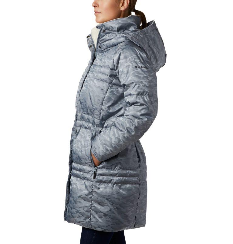 Ruby Falls™ Down Mid Jacket | 032 | L Manteau en duvet mi-long Ruby Falls™ pour femme, Tradewinds Grey Jacquard, a1