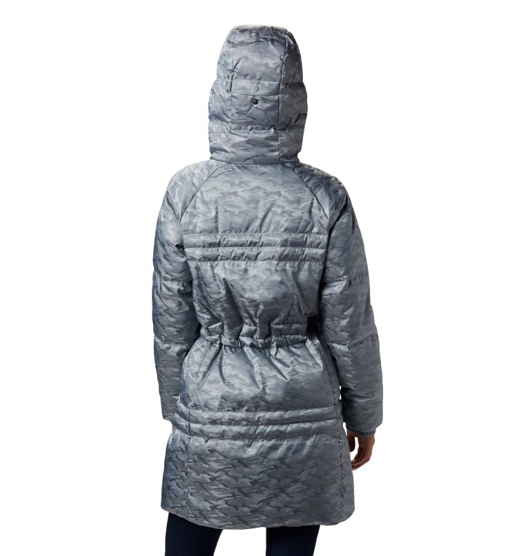 Ruby Falls™ Down Mid Jacket | 032 | L Manteau en duvet mi-long Ruby Falls™ pour femme, Tradewinds Grey Jacquard, back