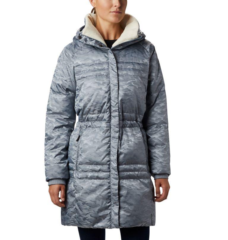 Ruby Falls™ Down Mid Jacket | 032 | L Manteau en duvet mi-long Ruby Falls™ pour femme, Tradewinds Grey Jacquard, front