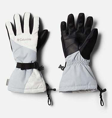 Women's Whirlibird™ Ski Gloves W Whirlibird™ Glove | 010 | L, White Crackle Print, Cirrus Grey, front