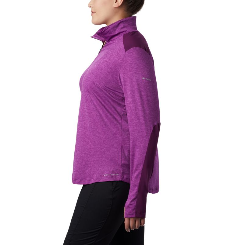 Women's Place to Place™ 1/2 Zip Shirt - Plus Size Women's Place to Place™ 1/2 Zip Shirt - Plus Size, a1