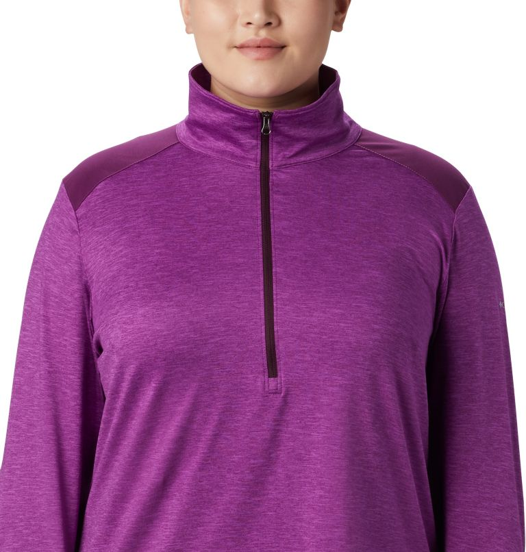 Women's Place to Place™ 1/2 Zip Shirt - Plus Size Women's Place to Place™ 1/2 Zip Shirt - Plus Size, a2