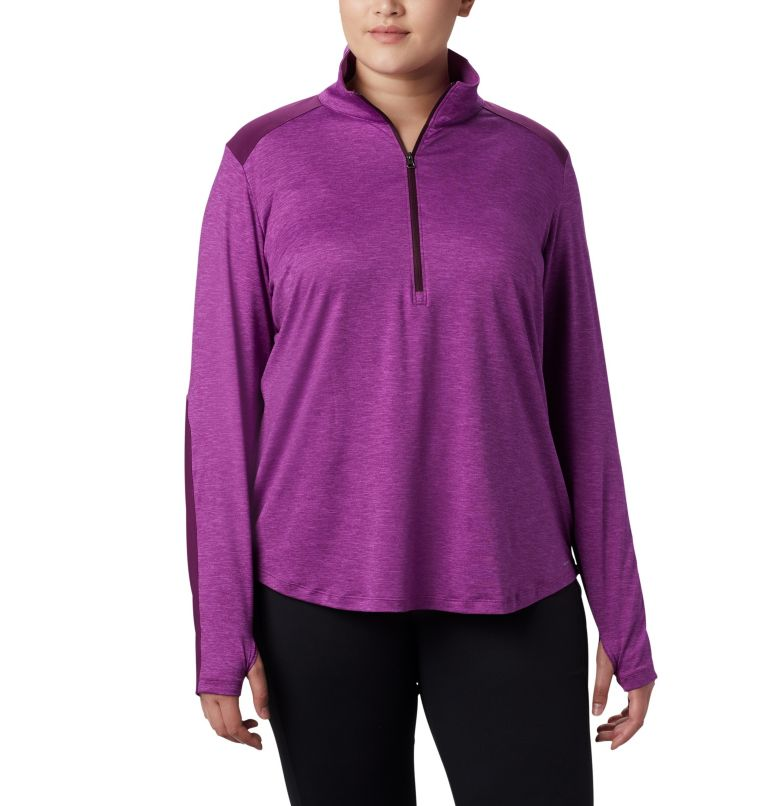 Women's Place to Place™ 1/2 Zip Shirt - Plus Size Women's Place to Place™ 1/2 Zip Shirt - Plus Size, front