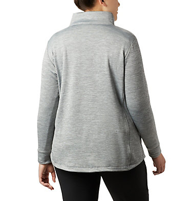 Chandail en laine polaire à fermeture éclair Place to Place™ pour femme Place to Place™ Fleece Full Zi | 023 | 1X, City Grey, back