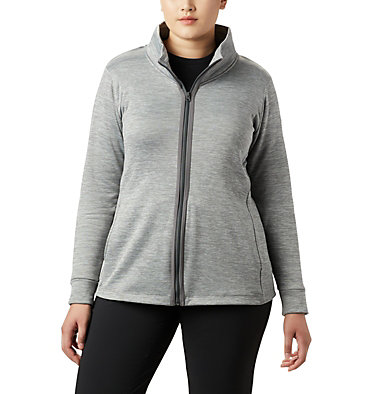 Chandail en laine polaire à fermeture éclair Place to Place™ pour femme Place to Place™ Fleece Full Zi | 023 | 1X, City Grey, front