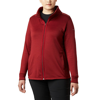 Chandail en laine polaire à fermeture éclair Place to Place™ pour femme Place to Place™ Fleece Full Zi | 023 | 1X, Beet, front